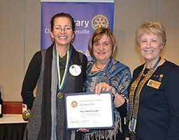 Paul Harris Fellow award for Eastwood Rotarian