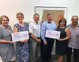 $10,000 Rotary donation from Light Up East Ryde proceeds