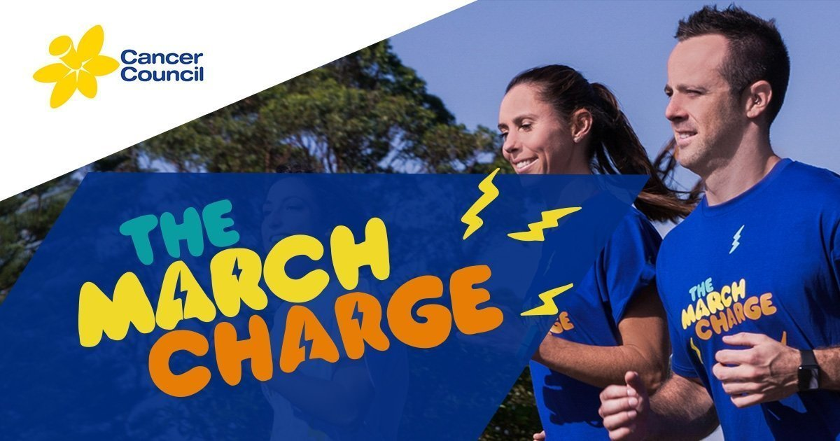 Rebecca's inspiration in the March Charge fund-raiser