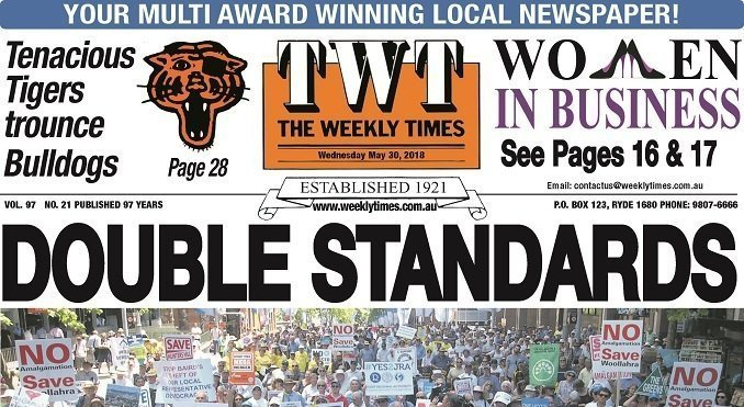 The Weekly Times – TWT – 30th May 2018
