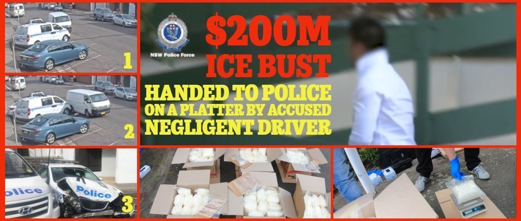 Police handed $200m-plus 'Ice' bust on a platter by accused negligent driver