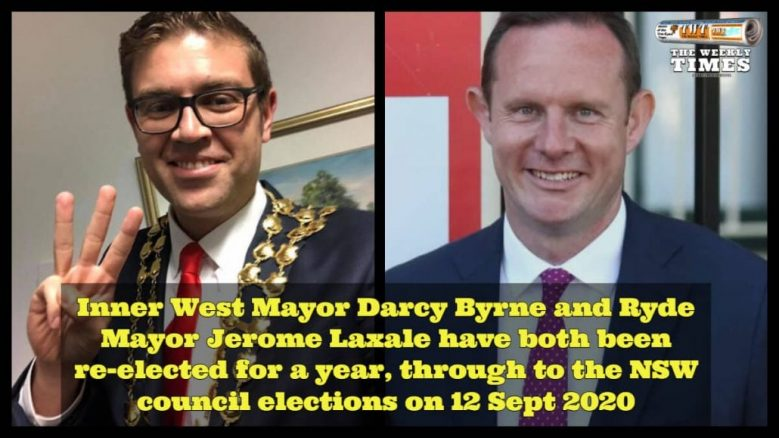 Ryde Mayor Jerome Laxale and Inner West Mayor Darcy Byrne re-elected for another year